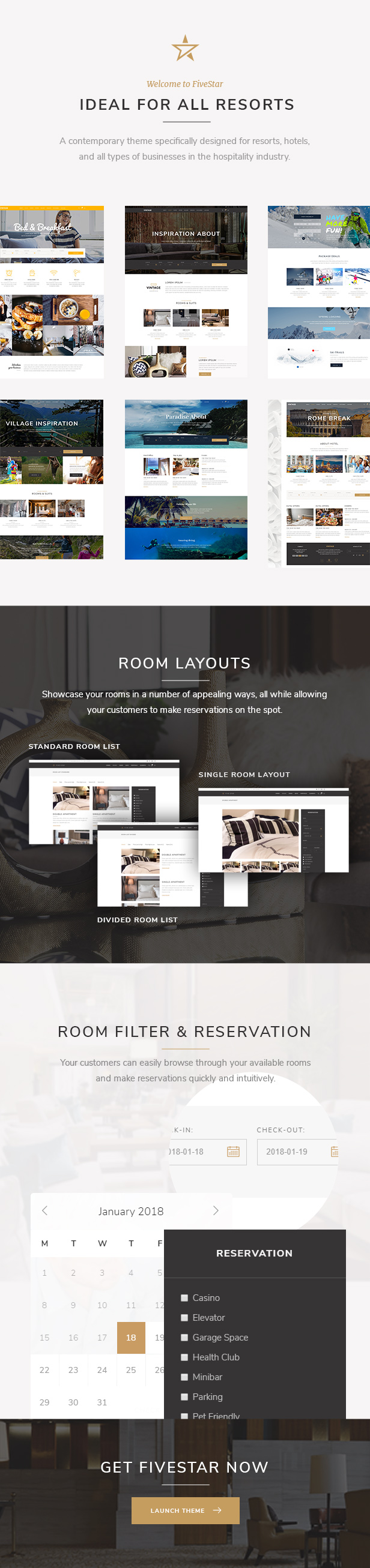 fivestar - a modern hotel and resort booking theme (travel) FiveStar – A Modern Hotel and Resort Booking Theme (Travel) 01